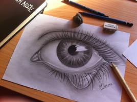 realistic eye by MyAbsentRomance