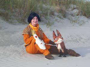 Ezra in the sand