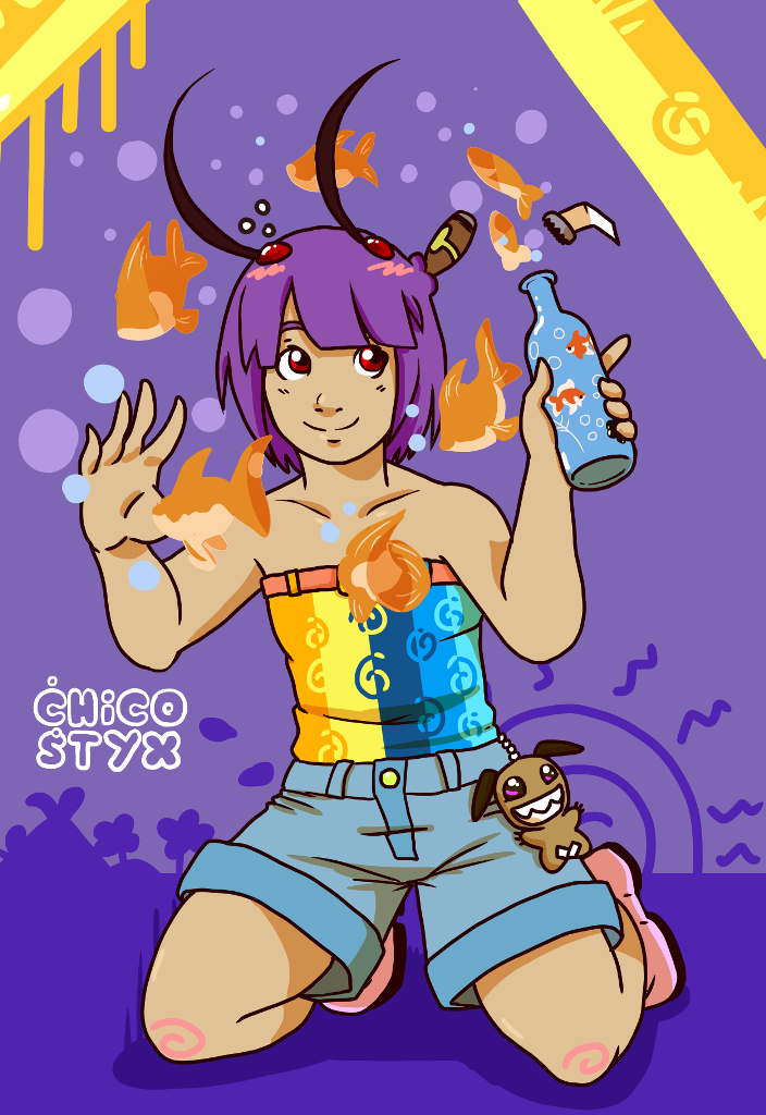 Drunk goldfishes by ChicoStyx