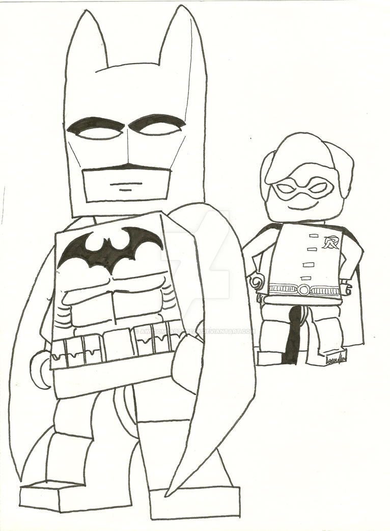 Printable Coloring Pages Lego Batman