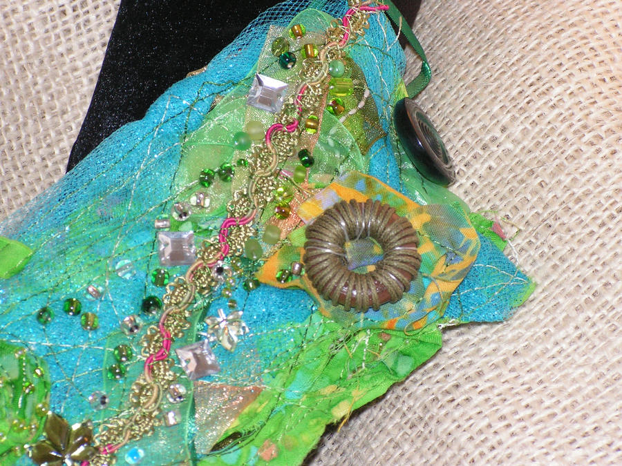 Fairy Circles - Fabric Cuff by nightowl2704