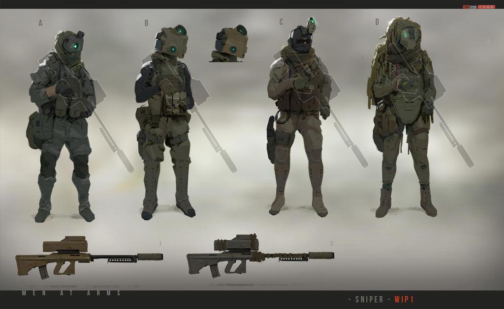 [MENatARMS] redsteam CA sniper WIP01 by sobaku-chiuchiu