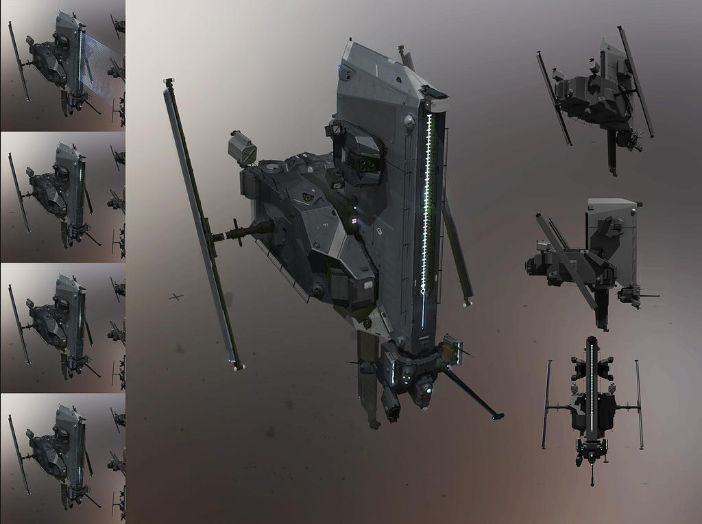 Caldari security drone by sobaku-chiuchiu