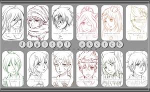 digital sketches -commission art-
