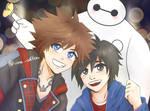 Sora, Hiro and Baymax by u-ne