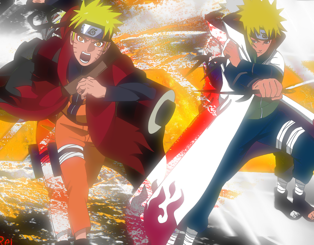 Simple Wallpaper Halloween Naruto - naruto_and_minato_wallpaper_by_kazukai20-d6nh19b  Picture_453150.png