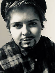 black and white different drag king look