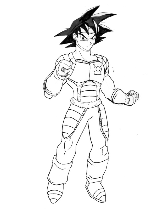 Bardock of the Green Lanterns by Impious-Imp