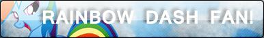 COMM-Rainbow Dash Fan Button by Supremechaos918