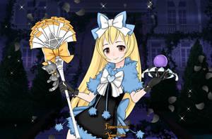 Gift- Anime Halloween girl Lunakinesis by Supremechaos918