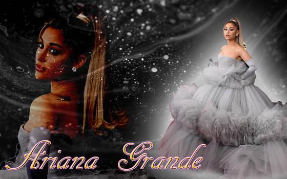 Ariana Grande Silver Wallpaper