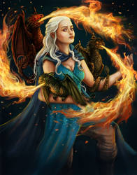Mother of Dragons by Krikin
