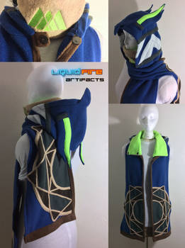 Custom Warlock II Destiny Hooded Scarf (alt view)