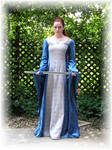 Sapphire Medieval Gown II by Liquidfire3