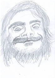 Caricature sketch of King Jables himself, Mr. Jac. by rigart