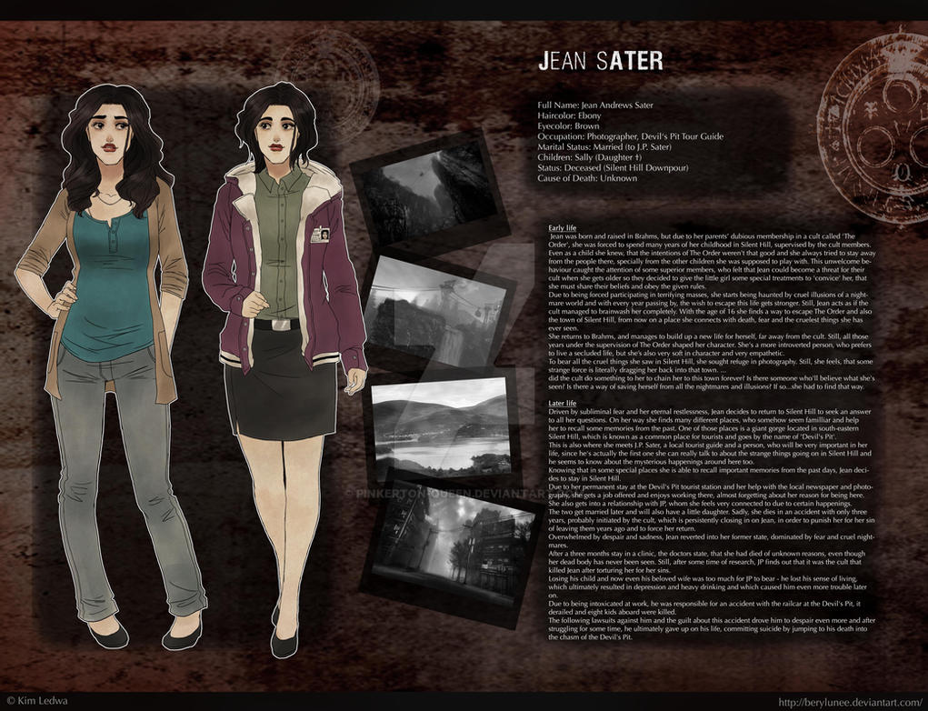 Jean A. Sater Profile Sheet by Berylunee