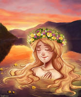 Sunset in the Fjords by Pinkerton-Queen