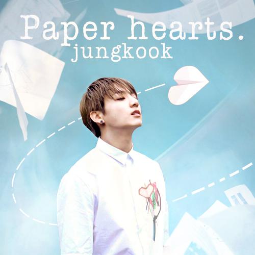 jungkook  paper hearts by tefaherrera on deviantart