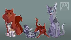 AU Squirrelflight and Ashfur family
