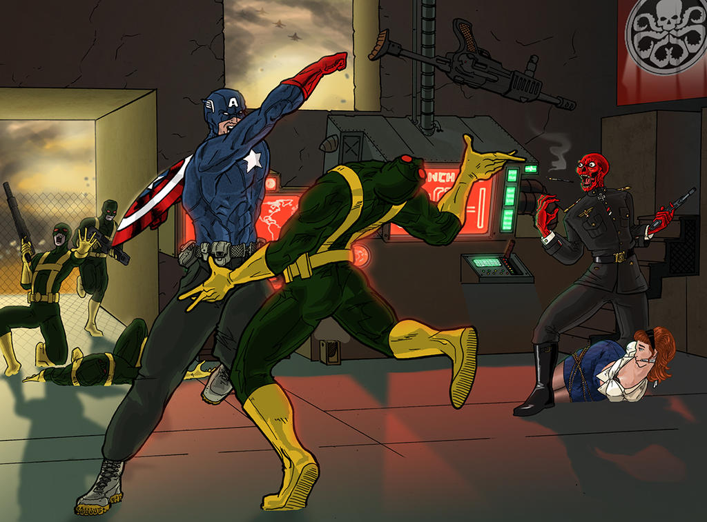 PUMMEL - Captain America - vs. Scorpio Report by BringerOfStorms