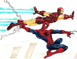 Spiderman and Ironman for Tyler Small