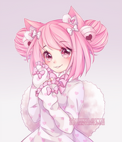 Commission - Pink Ribbons by NikkiLotte