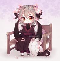Commission - Sakura Dragon by NikkiLotte