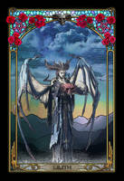 Lilith Diablo 4 Mucha style fanart