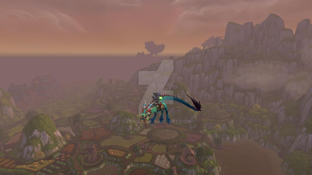 flying through pandaria world of warcraft by zeng20