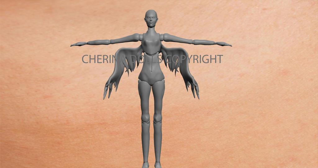 Angel 3D bjd doll.  by (C) ChErina Dolls by DevineShade