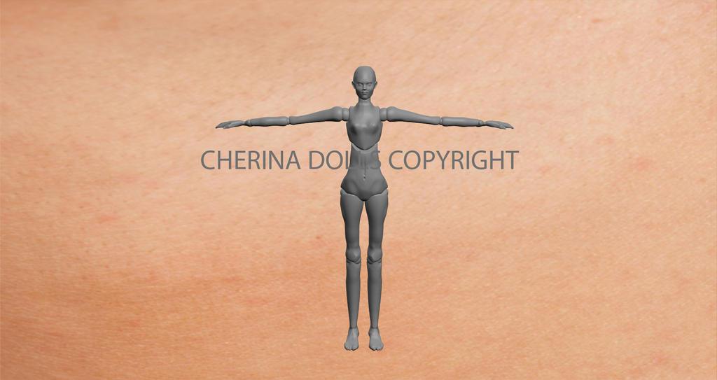 human 3D (C) ChErina Dolls by DevineShade