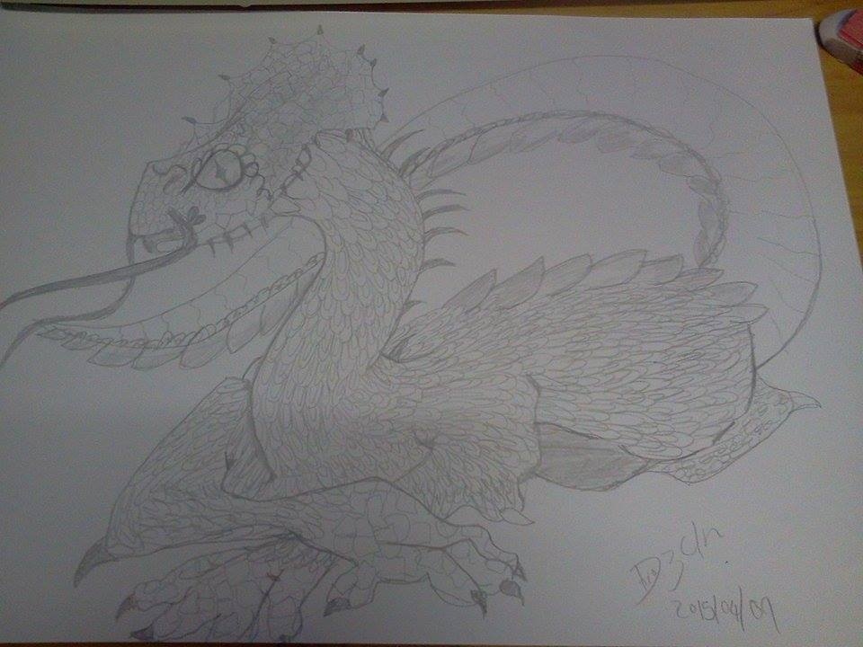 Dragon scaled by me by DevineShade