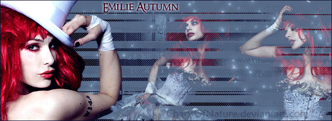 Emilie Autumn - Banner by ChaosOfNature