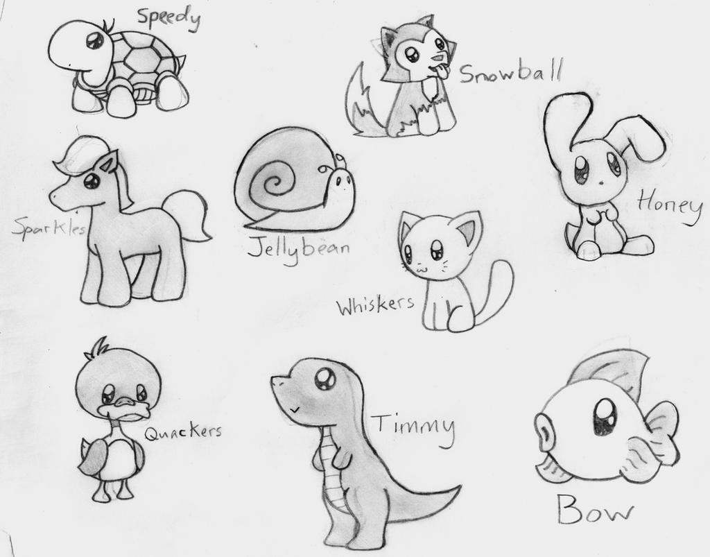 Cute Sketches Tumblr Animals By