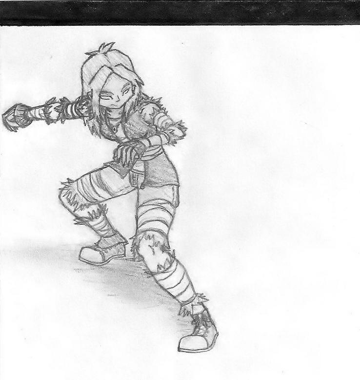 Jiji - Huntress - Art 1 Teacher Just_try_and_take_me_down_by_crimsonangelofshadow-d3e37rq