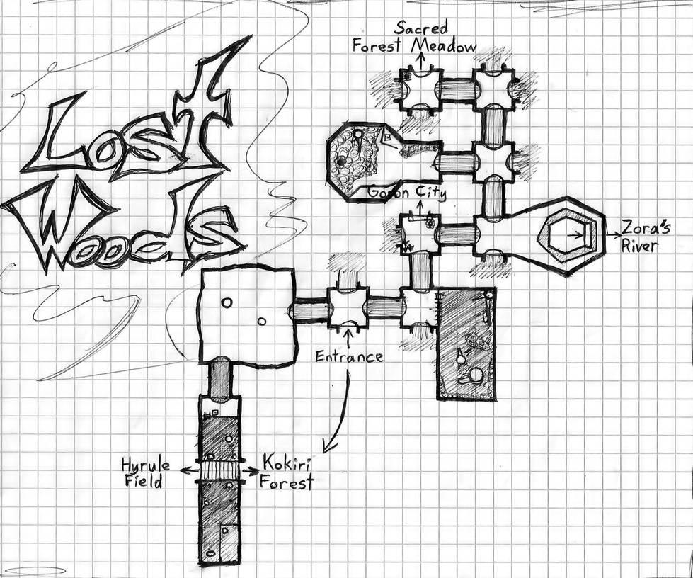 Lost Woods Map Lost Woods Map by CrimsonAngelofShadow on DeviantArt