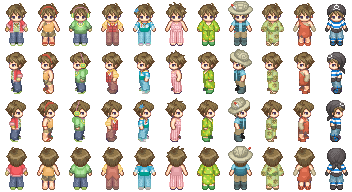 Rusty Outfit Sprites by MiatheRabbit