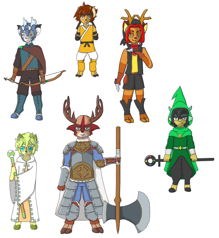 RPG Deer Boys by MiatheRabbit