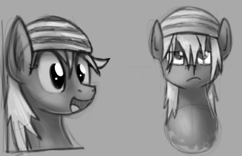 Sketches for a friends OC by Premann