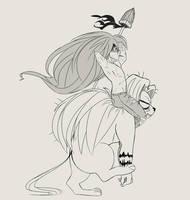 ushio to tora by MoonChime222