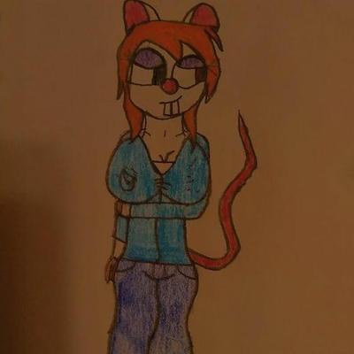 Louise the rat (my oc) new design by scraftycraft