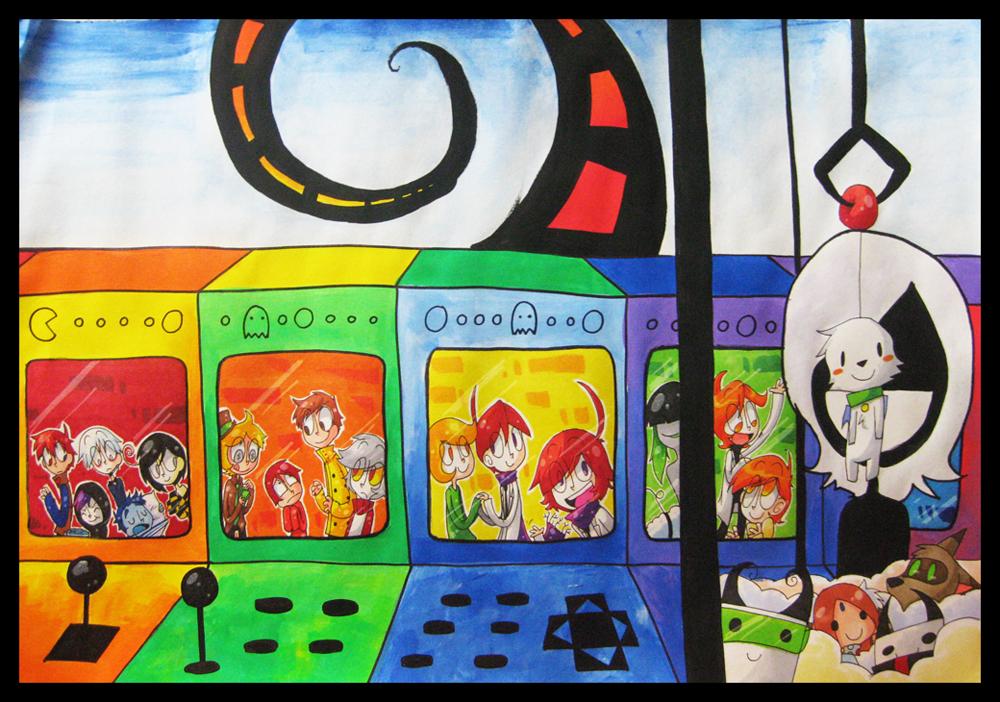 Rainbow Arcade by kurisquare