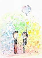 Heart Shaped Balloon by kurisquare