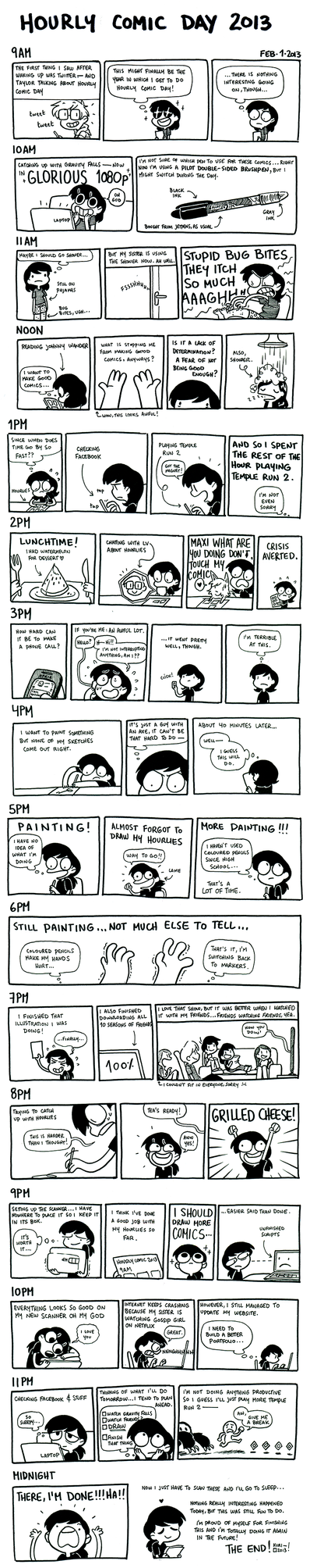 Hourly Comic Day 2013 by kurisquare