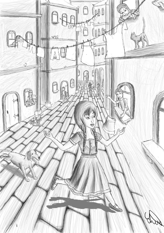 Eftihia as a child in Corfu, of Venice