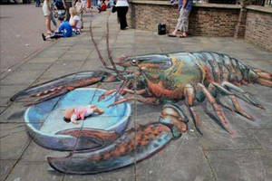 3D Chalk Drawing by ABCalex
