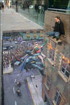 3D Chalk Drawing 6