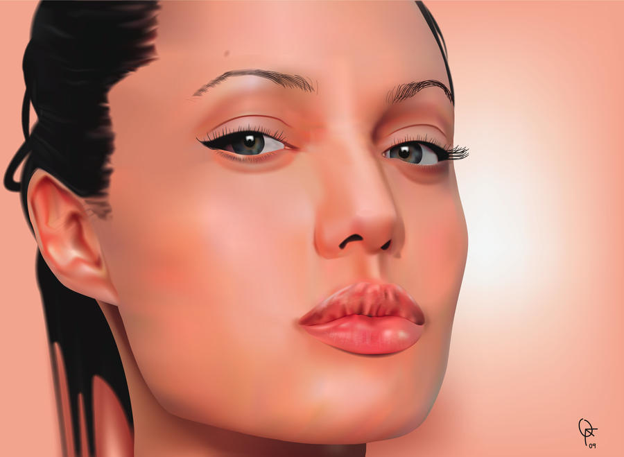 Angelina Jolie by frankwyte81