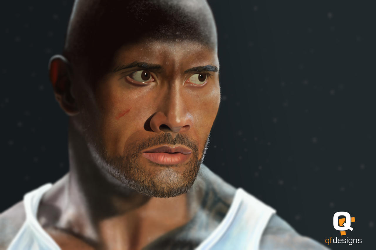 The Rock - Dwayne Johnson Painting by frankwyte81