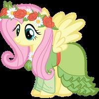 Fluttershy's Coronation Dress by Bethiebo